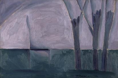 Three trees at culvert
