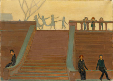 Steps, 1907, Oild on Canvas, 20 1/8 x 28 1/8 in.