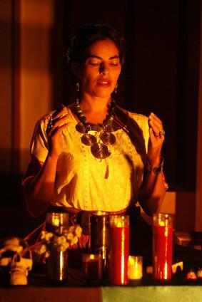 Frida at the altar