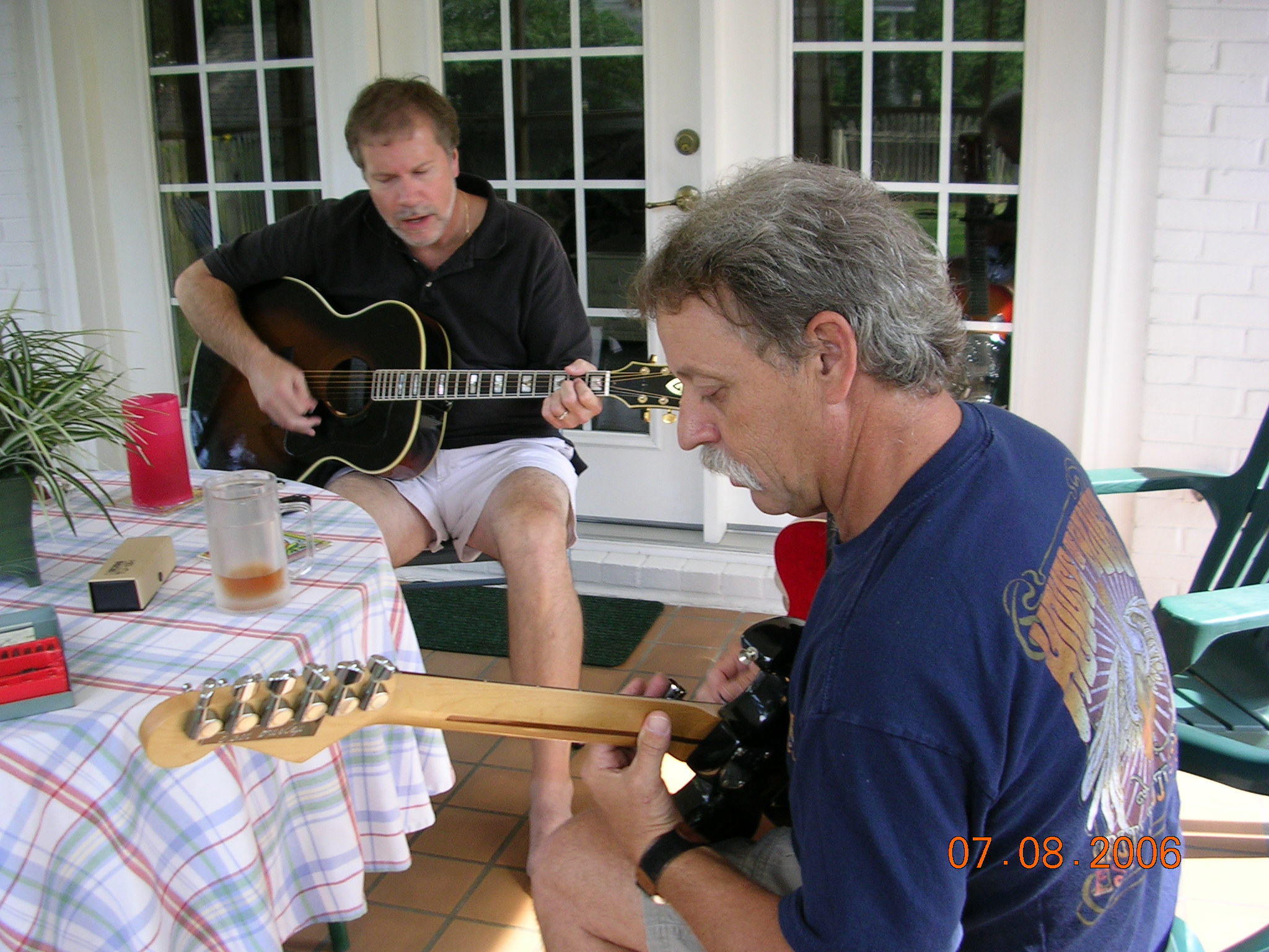 Jammin' on the back porch with Gerry