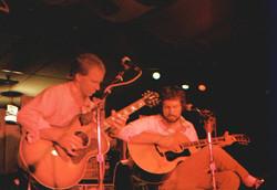 Cam and Tom at Fenwicks (c. 1984)