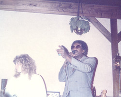 On stage with Johnny Bailey