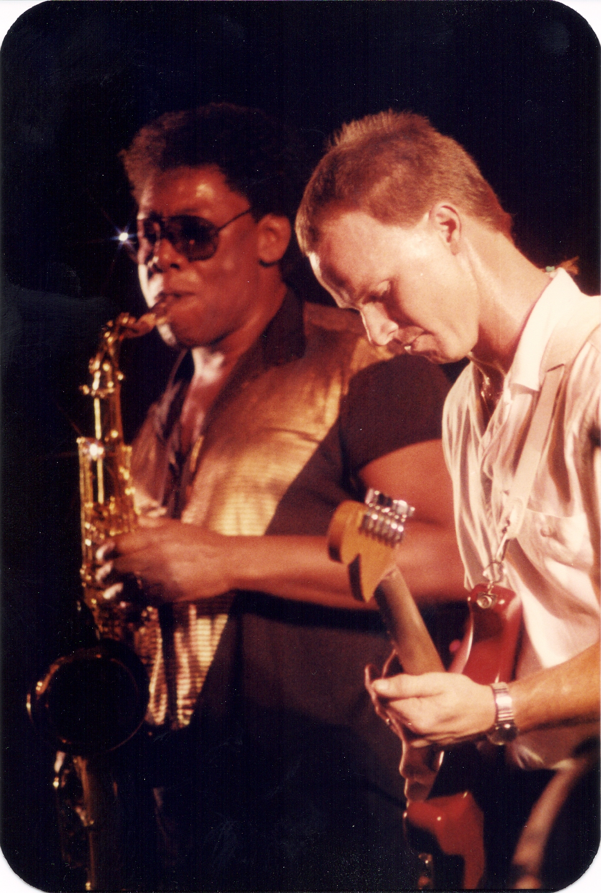 With Clarence Clemons-111587
