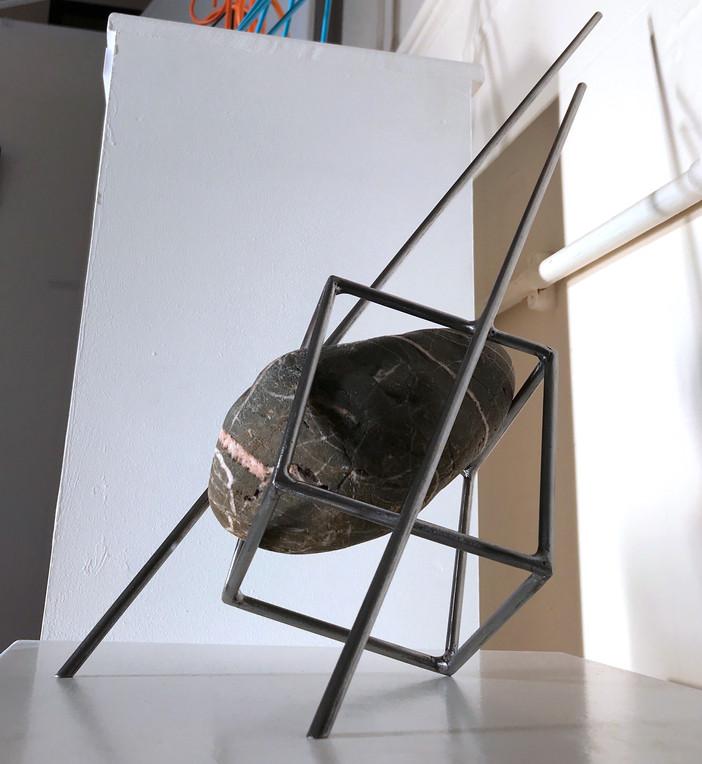 rivercobble_steel&stoneisculpture-spence