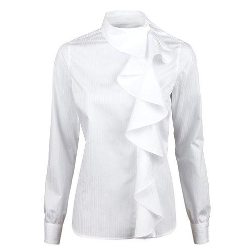 STENSTROMS - Blouse féminine blanche à volants