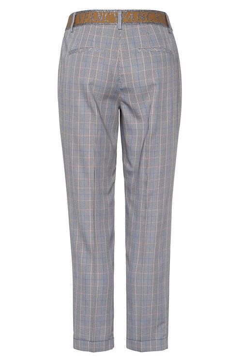 MARC AUREL - Pantalon à motif écossais