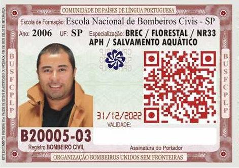 DOCUMENTO FUNCIONAL DE BOMBEIRO CIVIL