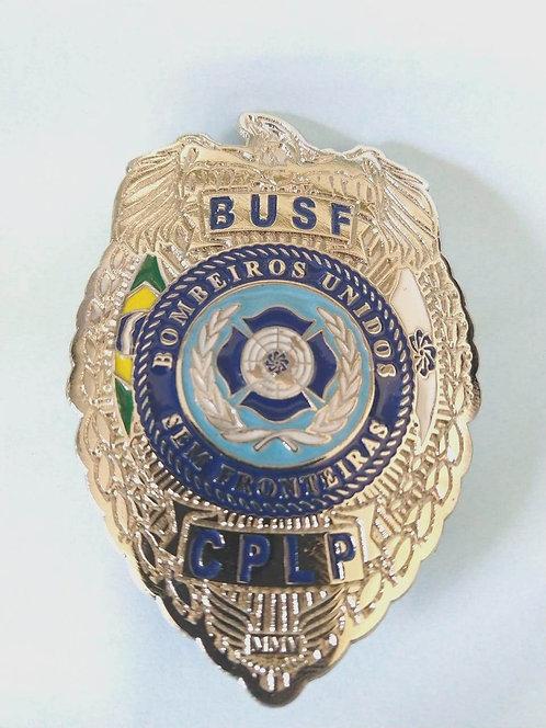Escudo em metal - BUSF prata