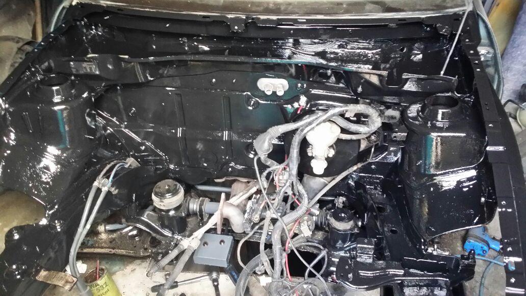 161018 CSS Caddy Motorraum Konserviert T4 Custom