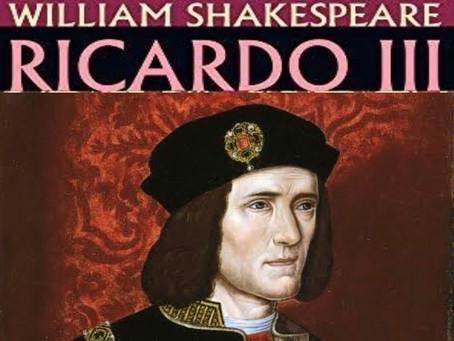 RICARDO III: O REI CONFESSA, MAS NÃO SE ARREPENDE