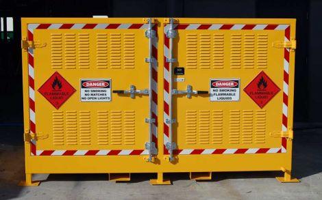 2 Pallets Flammable Storage Locker