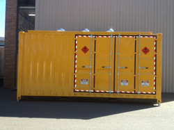 Walk-in Decanting Shed(Doors Closed)