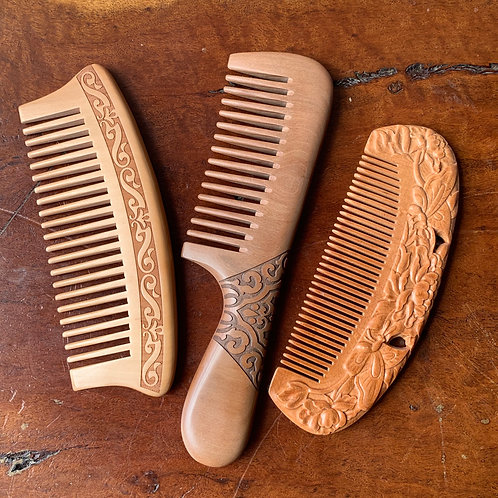 Carved Wooden Comb
