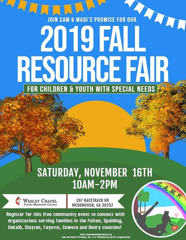 CAM AND MADIS PROMISE FALL RESOURCE FAIR