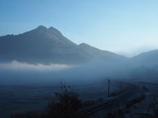 湯布院 朝霧