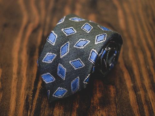 Diamonds Dancing Sage Tie