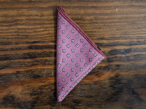 Mauve Geometric Pocket Square