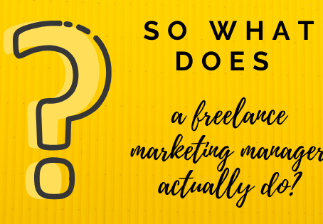 So what does a freelance marketing manager actually do?