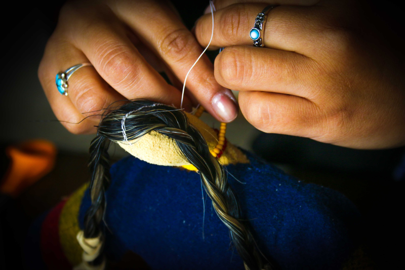 Traditional Lakota Doll Making