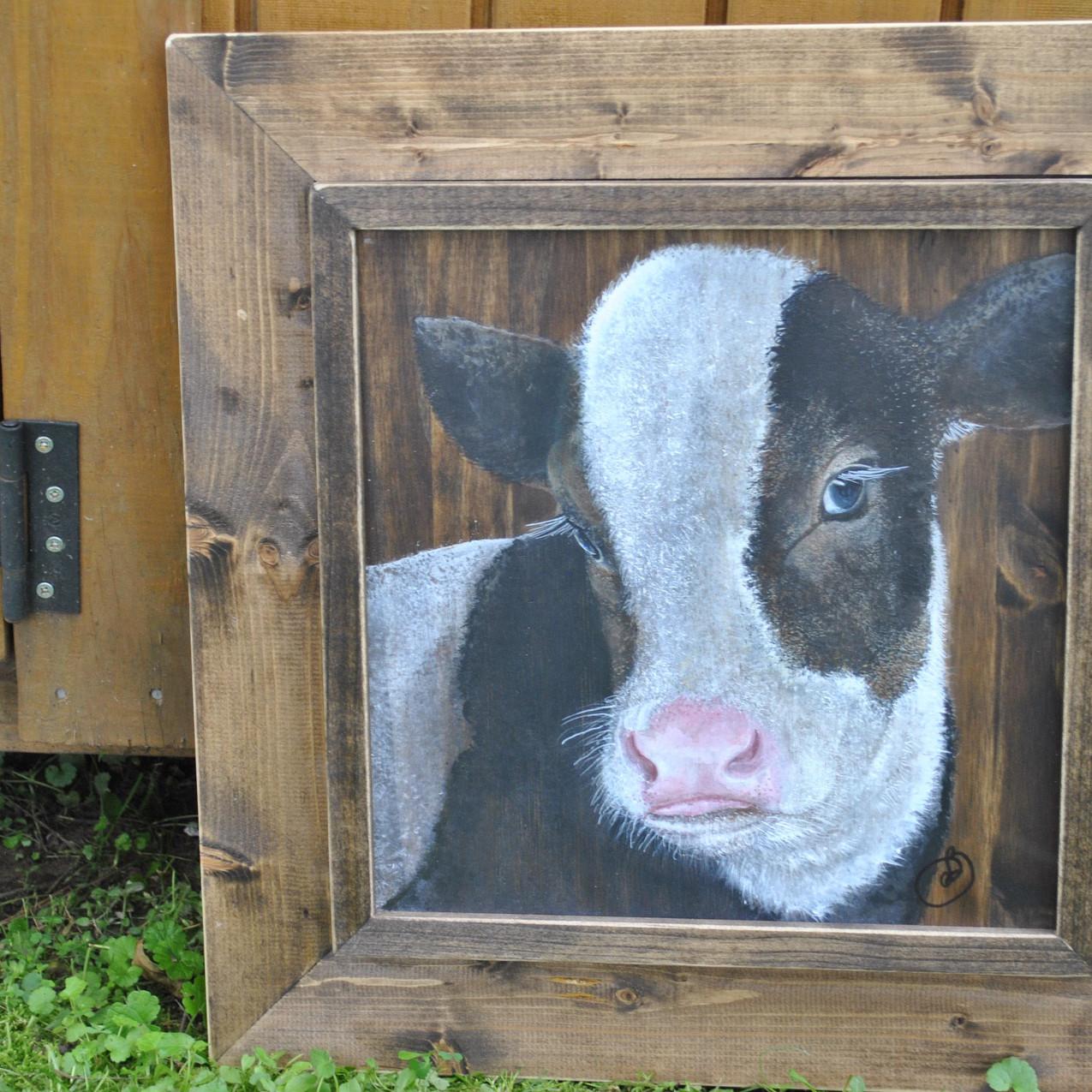 Half Pint Holstein painting