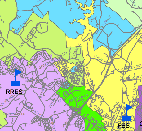 Elementary School Redistricting:  Which option makes the most sense?