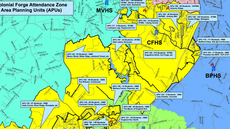 7 options devised by School Board for redistricting Colonial Forge