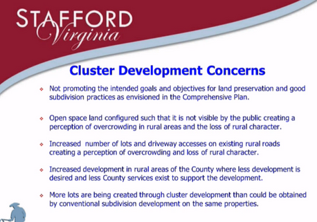 Round 1: Cardinal Meadows development and Cluster Ordinance status quo heard by Planning Commission.