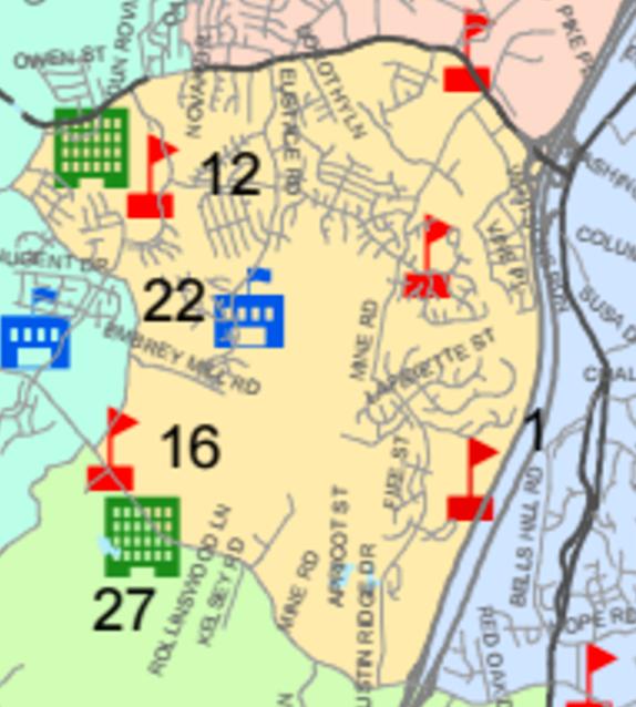Garrisonville District Map