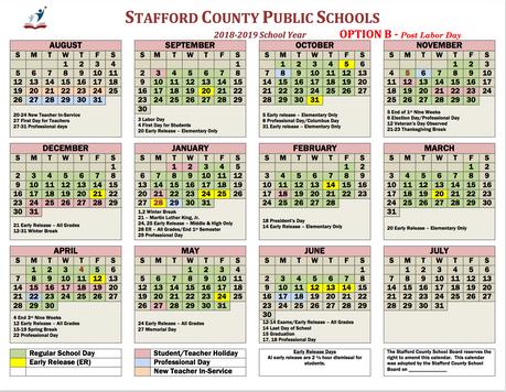 SCPS Calendar Options revealed