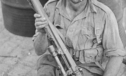A souvenir Kar 98K sniper rifle