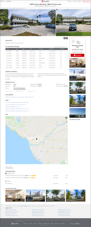 Loopnet Commercial Real Estate Listing Page