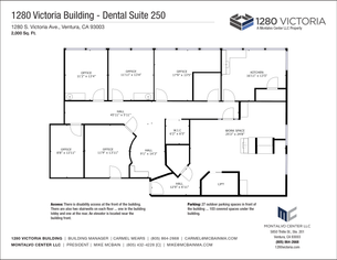 Floor Plan for Suite 250