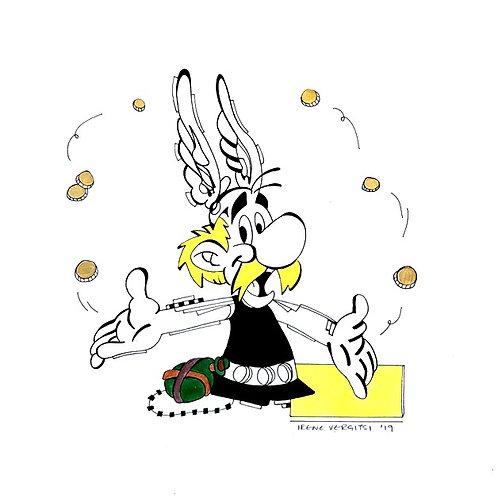 Asterix Painting by visual artist Irene Vergitsi