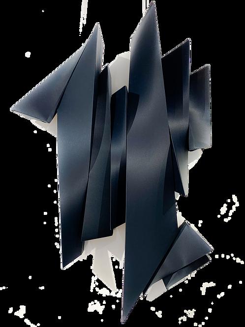 Black Three Dimensional Illustration by visual artist Rania Schoretsaniti