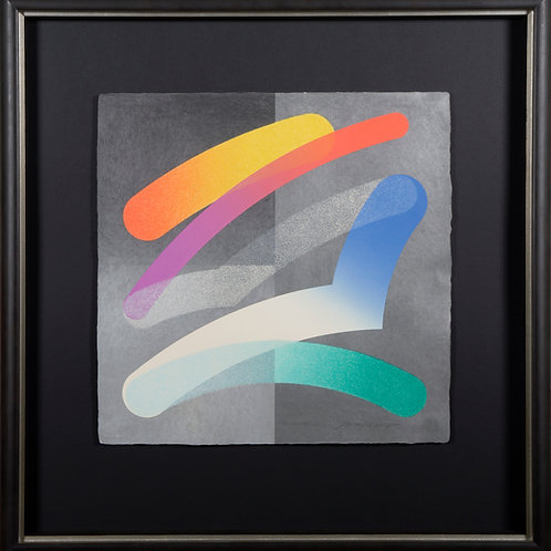 Original Lithograph titled Strokes 86-3 by artist Takeshi Hara
