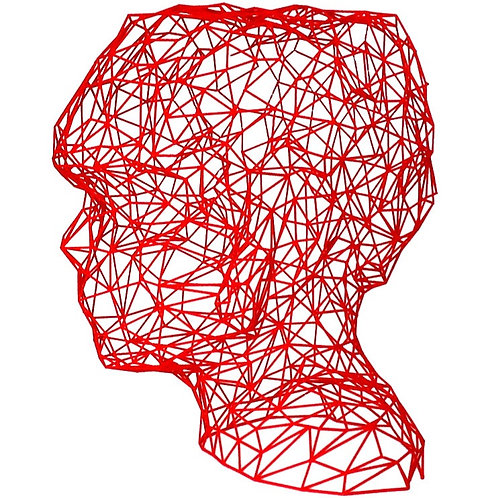 Red Face 3D Sculpture by artist Antonis Kiourktsis
