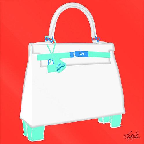 Brigitte's Polemis art print on plexiglass titled Kelly Bag