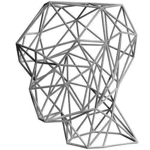 Grey Head 3D Sculpture by artist Antonis Kiourktsis