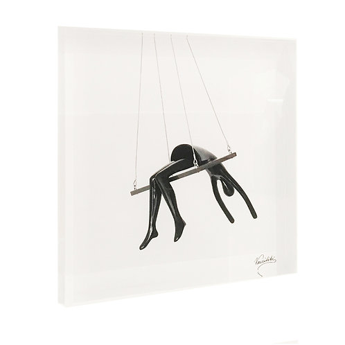 Vassiliki's artwork Marie Angelique on the swing Printed on Plexiglass Front View