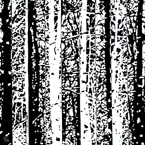 Black And White Forest by painter Marcelo Zeballos