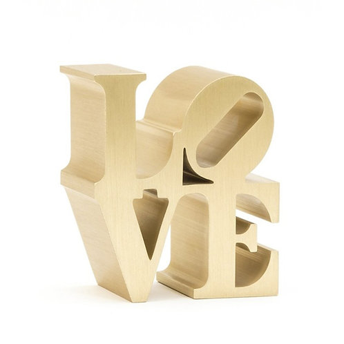 Gold LOVE Sculpture by Robert Indiana