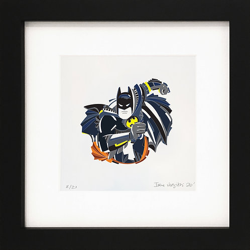 Batman fine art print  by visual artist Irene Vergitsi