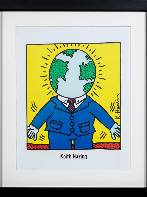 Offset Lithograph by Keith Haring titled Global man