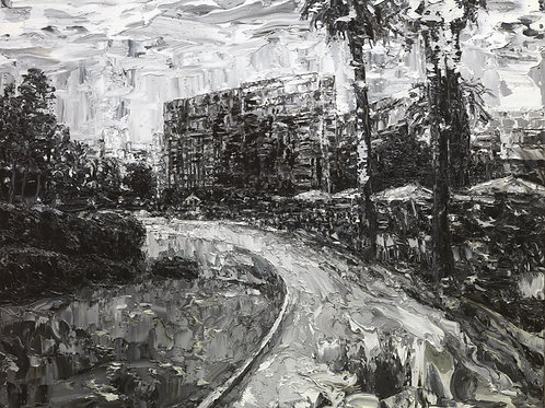 Black And White Painting Front View