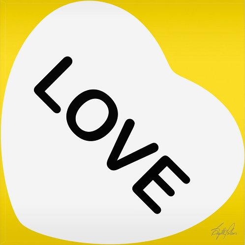 Brigitte's Polemis art print on plexiglass titled Love