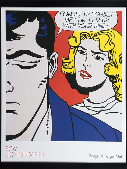 Offset Lithograph by Roy Lichtenstein titled Forget it Forget me