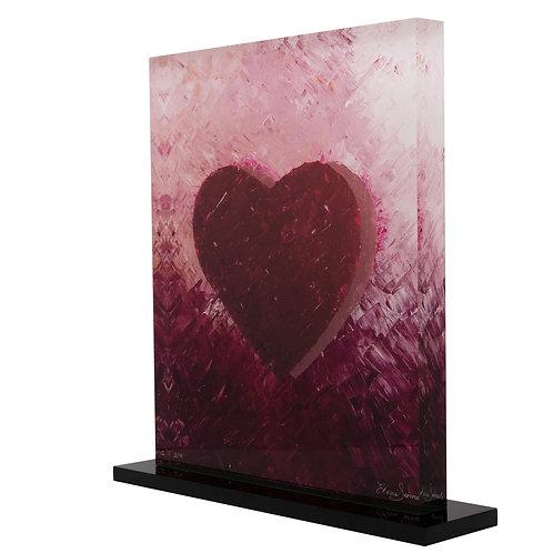 Red Printed Heart On Plexiglass by artist Eleni Sameli
