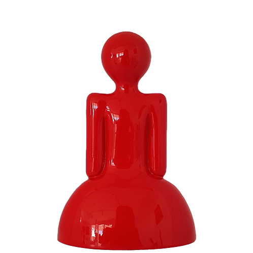Red Medium Size Girl Resin Sculpture by sculptor Vassiliki