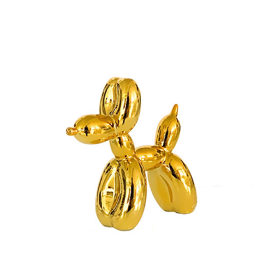 Mini resin Sculpture titled Balloon Dog in gold color