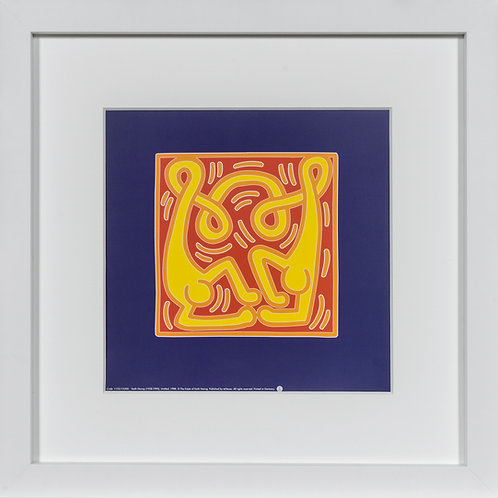 Offset Lithograph by Keith Haring untitled